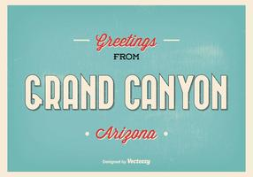 Retro Stil Grand Canyon Greeting Illustration