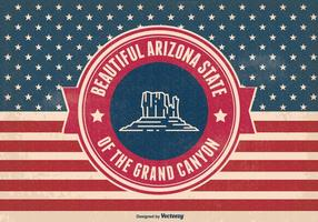 Retro Arizona Grand Canyon State Illustratie