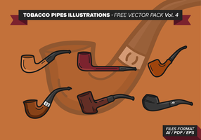 Tabaco Pipes Illustrations Free Vector Pack Vol. 4