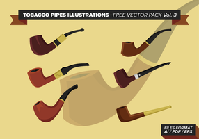 Tobacco Pipes Illustrations Free Vector Pack Vol. 3