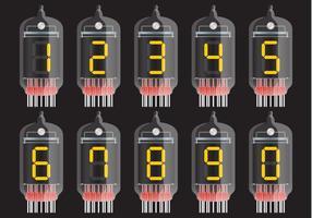 Vetores de partes do transistor numeradas