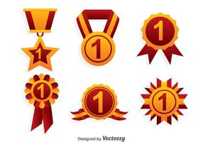 First Place Ribbon Icons