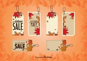 Autumnal Price Tags vector