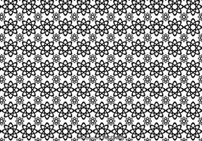 Black And White Flowers Shape Pattern vector