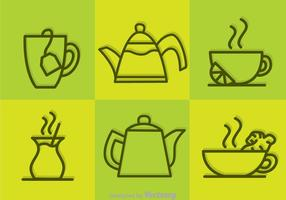 Vector Tea Outline Icons