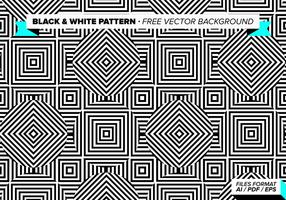 Zwart-wit Patroon Gratis Vector Achtergrond