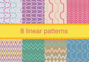 Conjunto de patrón de zigzag