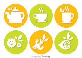Vetores do círculo do chá
