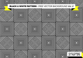 Zwart-wit Patroon Gratis Vector Achtergrond Vol. 2