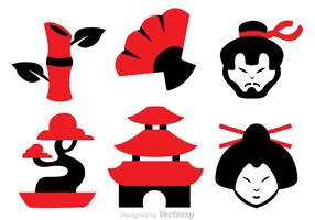 Iconos del vector de la cultura china