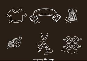 Knitting Clothes Icons Vectors