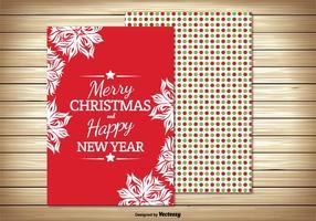 Belle carte de voeux de Noël colorée