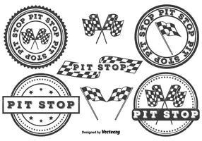 Juego de insignias de pit stop