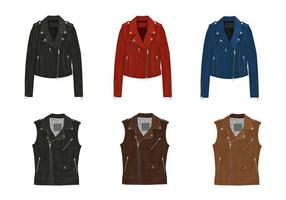 Leather jacket vectoren