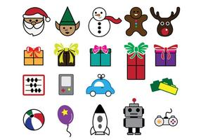 Santa Workshop Icons