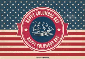Columbus Day Retro Style Illustration