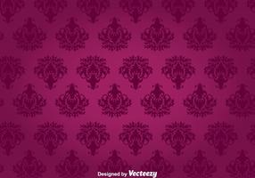 Purple Floral Ornament Wall Tapestry