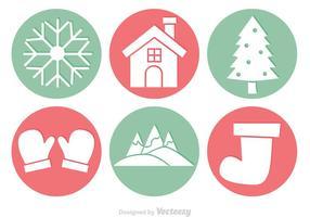 Winter-Kreis-Vektoren