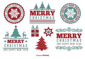 Cute Merry Christmas Label Set