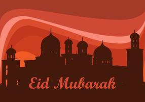 Eid al-mubarak fri vektor