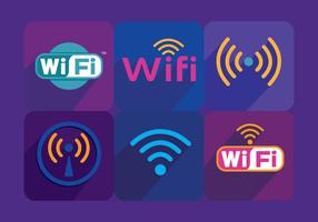 Vecteurs de symboles Wifi