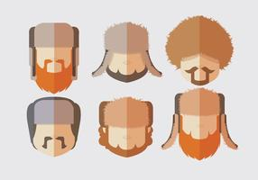 Man Fur Hat Vectors