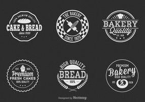 Free vintage bakery vector label set