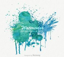 Vector Watercolor Paint Banner