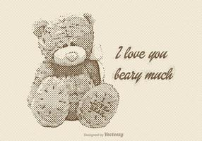 Gratis Vector Vintage Teddy Bear