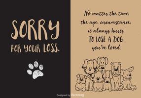 Freier Verlust der Hund-vektorkarte