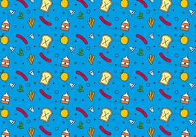 Free School Lunch Vector Pattern #7