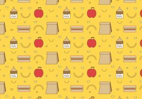 School Lunch Vector Pattern #3