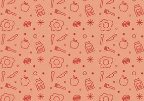 Free School Lunch Vector Pattern #1