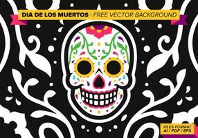 Dia De Los Muertos Gratis Vektor Bakgrund
