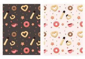Churros and donut pattern