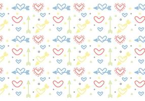 Free Heart Vector Pattern #5