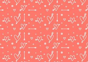 Free Heart Vector Pattern #3