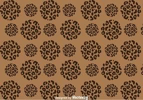 Leopard Pattern On Circle Shape vector