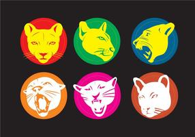 Vectores de la mascota del puma