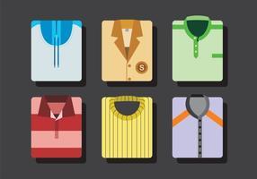 Vecteurs de chemises pliées colorées