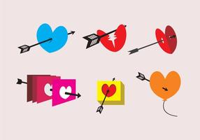 Arrow Through Heart Illustrations