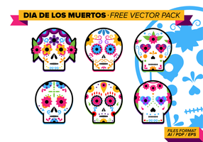 Dia de los muertos kostenlos vektor pack