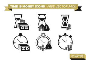 Tijd Is Geld Pictogrammen Gratis Vector Pack