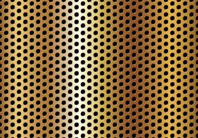 Vecteur de métal doré perforé en cercle gratuit