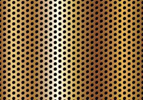Gratis cirkelperforerad gyllene metallvektor