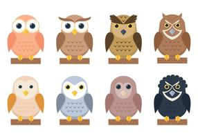Owl Stickers vector