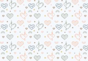 Free Heart Vector Pattern #4