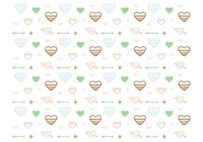 Gratis Heart Vector Pattern # 2