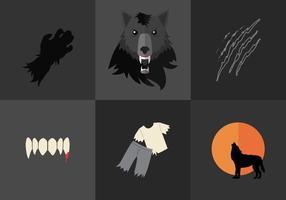 Vector Hombre lobo