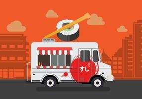 Vector sushi vrachtwagen